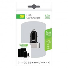 GP CC61 CAR CHARGER 2 X 2.4A + 1 X 1.5A